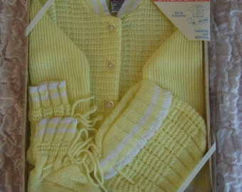 Vintage Baby Sweater Set