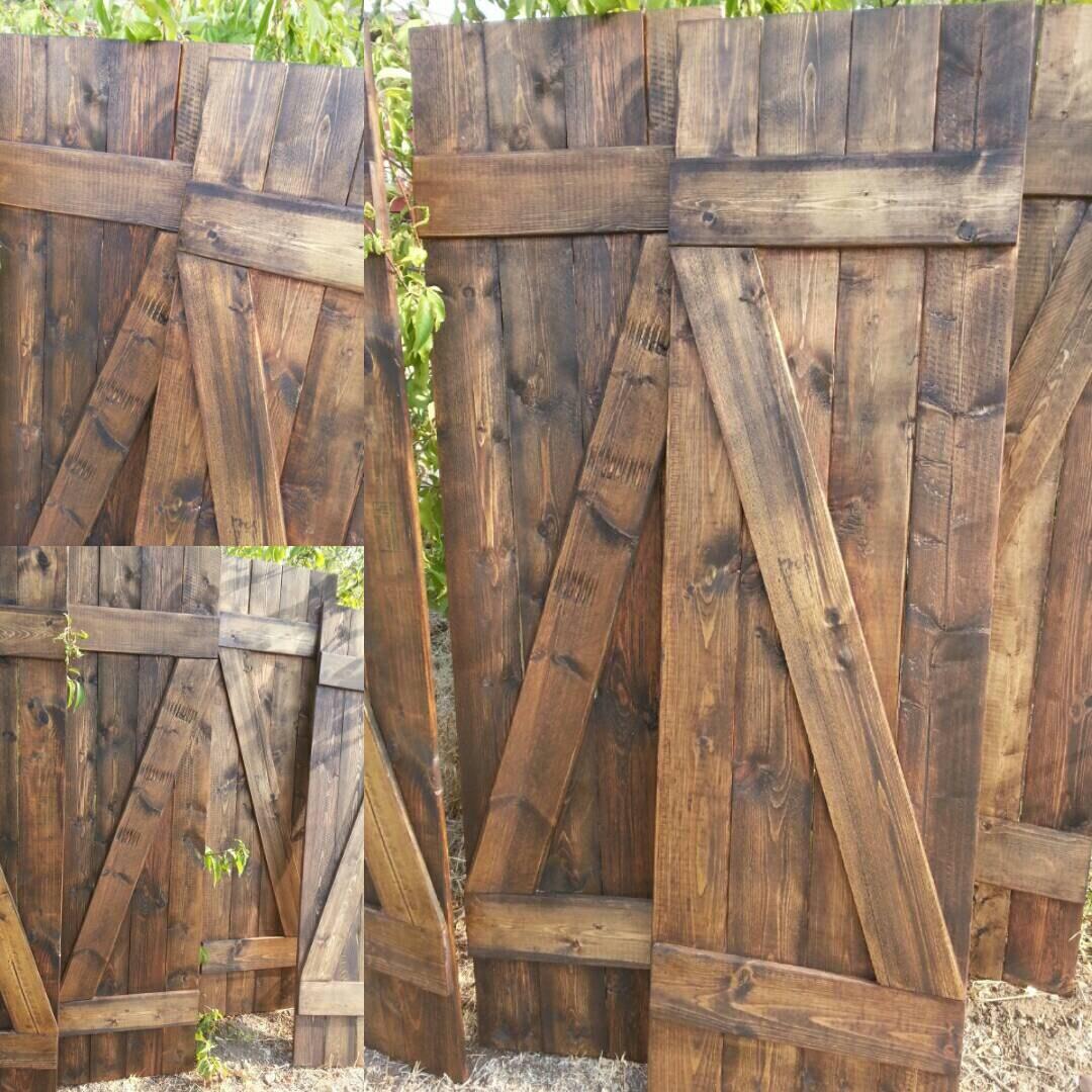 Z Bar Rustic Wood Shutters - 24 Decorative Shutters - Window ...