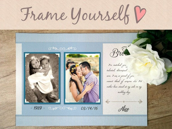 Personalised Wedding Gift For Brother : Brother Wedding GiftBest Friend Thank You gift Wedding, Gift for ...