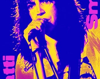 Patti Smith Poster, Singer, Musician, New York City, Punk Rock Legend