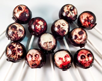 12 Zombie / Walking Dead Hard Candy Lollipops