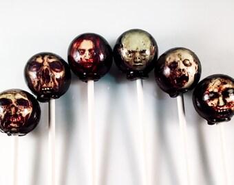 6 Zombie / Walking Dead Hard Candy Lollipops