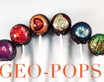 6 Agate (Geology) Hard Candy Lollipops