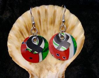 Aluminum Can Earrings/Foodie Earrings/Upcycled Repurposed Recycled Earrings