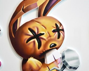Johnny the Homicidal Maniac - Nailbunny Wall Plaque - Sign Art - JTHM