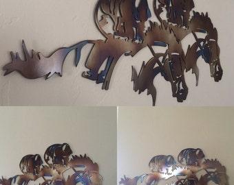 Derby Horse Kentucky Derby Preakness Belmont Stakes Metal Wall Art Sculpture