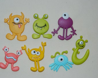 Children's Button Monster Magnets