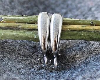 Antique Silver Brass Leverback Earrings 3 pair, Leverback Earrings, Leverback Earring, Earring Finding, Brass Earring, 925 Silver Plated Ear