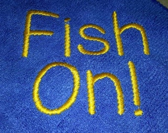 Fish On! Hand Towel with Caribeener