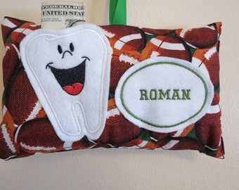 Football Tooth Fairy Pillow - Personalized - Embroidered Tooth Fairy Pillow