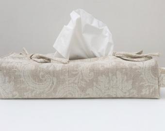 Linen Tissue Box  Cover Classic - Size L24xW12xH5cm
