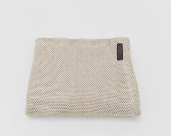 Organic Cotton Linen Natural Baby Blanket