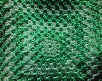 Crochet baby blanket in two shades of green.  Crochet baby afghan. Green baby blanket. Baby shower gift.  New mom girft. Irish baby blanket.