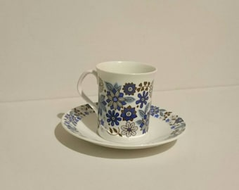 Rosina Bone China Cup and Saucer in Floral Blues