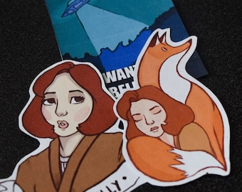 SALE***Fox and Scully || X Files Stickers
