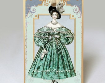 Lady in Green Gift Tag