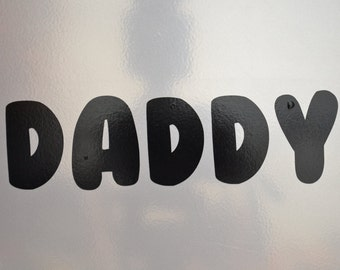 Window Decal, Daddy, ST-034d