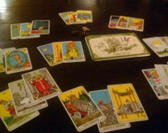 Wheel of Fortune Spread (Similr to Celtic Cross but much more throrough) Tarot Card Reading - 27 cards!