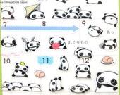 Last Stock Panda Stickers, Sticker Sheet, Kawaii Stickers