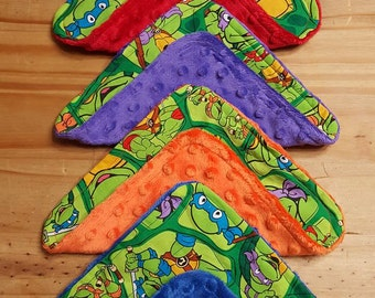 TMNT wash cloths, Turtles, wash rags, wash cloths, cleaning rags, baby wash cloths, bath time, baby shower gift, newborns, infants, babies,