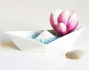 ALIZI.PORCELAIN origami BOAT