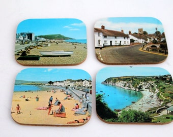 Coasters and Place Mats, Newcastle upon Tyne England Scenes,  Table mats, Colorful Scenic Coasters, Never Used
