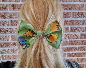 Vintage Inspired Hair Bows for Teens and Women, Adventure Time Hair Bow Clip