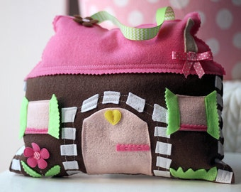 Tooth Fairy Pillow, House Pillow, House Tooth fairy Pillow, Cottage Pillow, Tooth Fairy Pillows, Tooth Fairy House, Tooth Fairy Castle