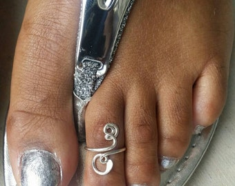 Unique Sterling Silver Toe Ring, Cute Simple Toe Ring