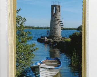 Photoprint Greetings Card - Ballycurrin Lighthouse (Co. Galway Ireland)