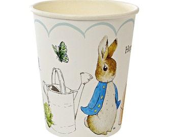 Meri Meri Peter Rabbit Cups. Pack of 12