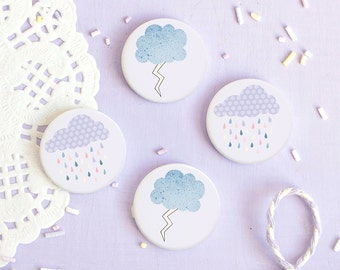 Cloud Badges - Look For Rainbows Collection - Button Pin