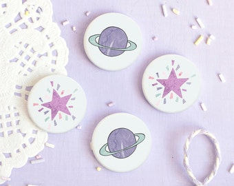 Space Badges - Look For Stars Collection - Button Pins