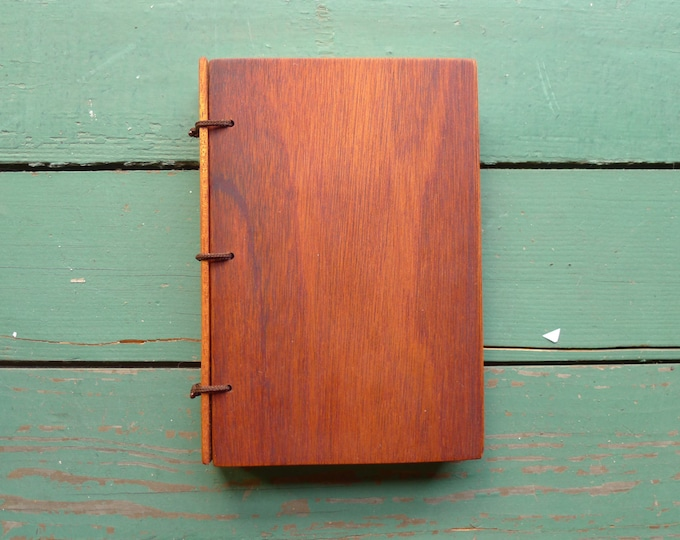 Featured listing image: Mahogany Wood Journal, Sketchbook or Guestbook - 4x6