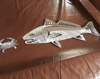 Redfish with Crab 10x22
