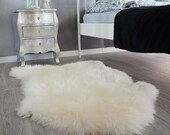 Original GIANT XXL White Genuine Natural Sheepskin Rug Exclusive rug