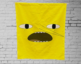 adventure time Earl of Lemongrab  - Custom Geek Fabric Wall Hanging Home Decor Canvas Tapestry  Wall Art Poster