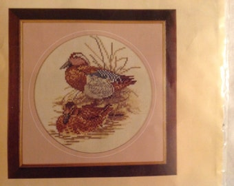Lanarte counted cross stitch kit of two ducks