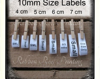 Age / Size Labels 10mm CE, EN71/3 Approved