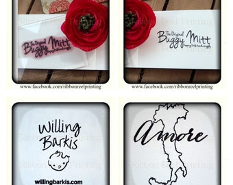 Polymer Stamp Custom made to your requirements , Business Logo, Personalised, Wedding