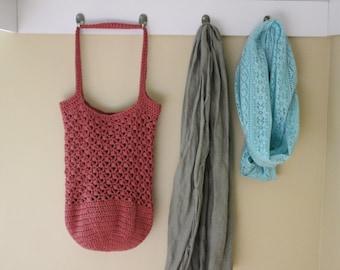 PATTERN - Crochet market bag pattern - Crochet tote bag pattern - Easy crochet patterns - Crochet puff stitch bag pattern - Yarn bag pattern