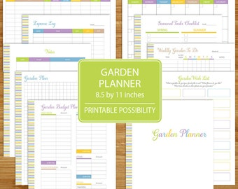 Garden Planner - Printable Garden Log - Track Gardening Plants and Expenses - Planting Planner - Spring Vegetable Garden Log and Planner