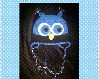 Boy Owl Crochet Hat