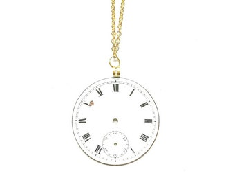 Watch Dial Necklace //  Steampunk Jewelry // Steampunk Necklace // watch Part Necklace // Watch Part Jewelry
