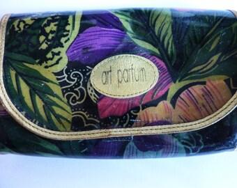 Cosmetic bag small bag botanical motif