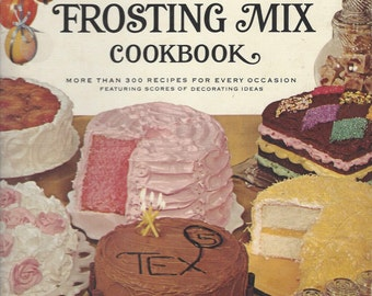 BETTY CROCKER'S Cake and Frosting Mix Cookbook Spiral Hardcover 1966 1st Ed