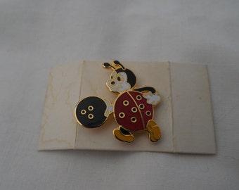 Lady Bug Bowling Hat Lapel Pin