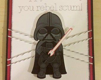 Disney Star Wars Darth Vader birthday greeting card