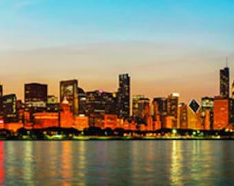 United States - Illinois - Chicago skyline at night - SKU 0213
