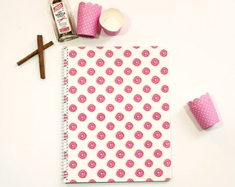 Donut notebook - cute colorful pink donut notebook